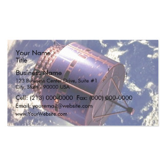 Weather satellite model in space business card templates