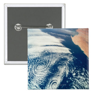 Weather Systems Above Earth 2 15 Cm Square Badge