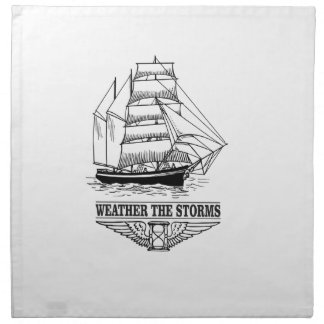 weather the storm glory napkin