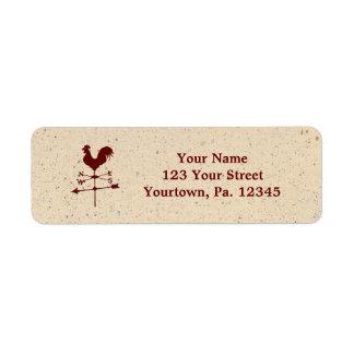 Weather Vane Address Label