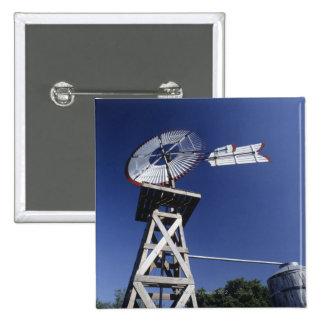 Weather vane and water tank, San Antonio, Texas, 15 Cm Square Badge