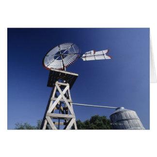 Weather vane and water tank, San Antonio, Texas, Greeting Card
