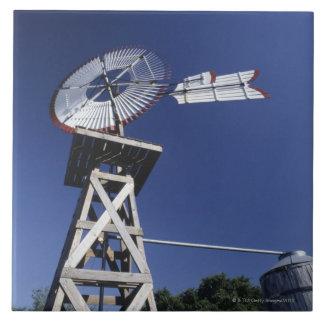 Weather vane and water tank, San Antonio, Texas, Large Square Tile