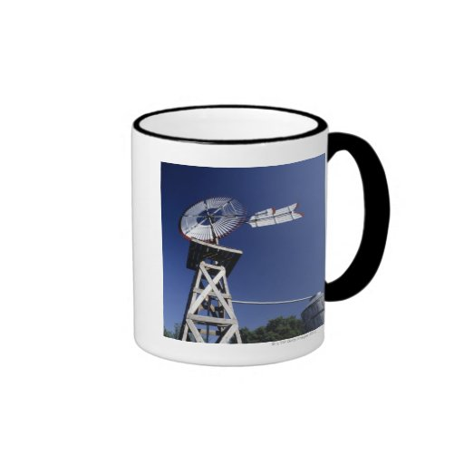 Weather vane and water tank, San Antonio, Texas, Coffee Mugs