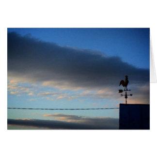 Weather Vane at Sunrise Greeting Card