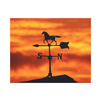 Weather Vane at Sunset Canvas Print