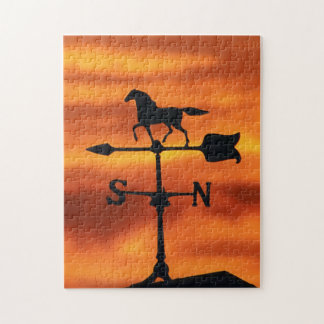 Weather Vane at Sunset Jigsaw Puzzle