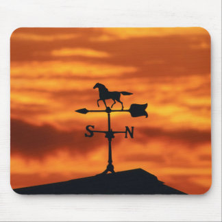 Weather Vane at Sunset Mouse Pad