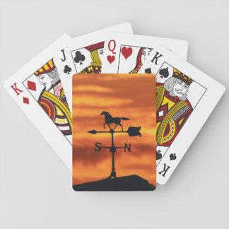 Weather Vane at Sunset Poker Deck