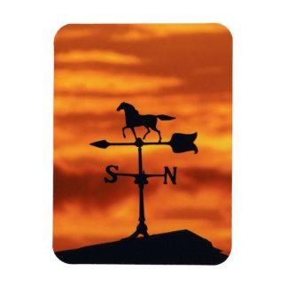 Weather Vane at Sunset Rectangular Photo Magnet