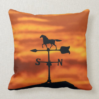 Weather Vane at Sunset Throw Pillow