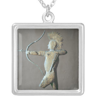 Weather vane in the form of an American Indian Silver Plated Necklace