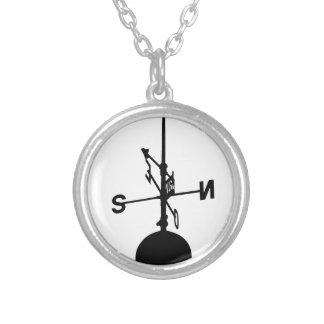 Weather Vane Round Pendant Necklace