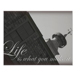Weather wind vane barn cupola inspirational quotes photograph