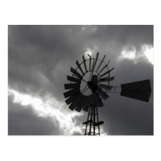Weather you like it or not...I love windmills... Postcard