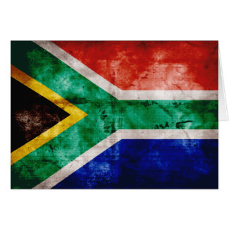 Weatherd South Africa Flag Card