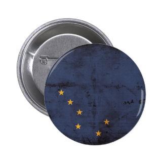 Weathered Alaska Flag Pinback Button