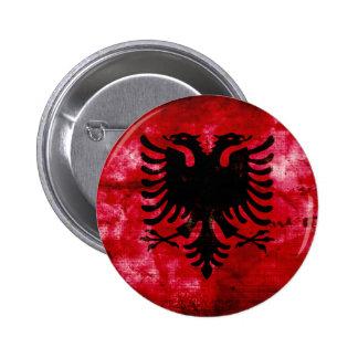 Weathered Albania Flag Button