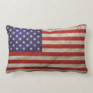 Weathered American Flag Pillow
