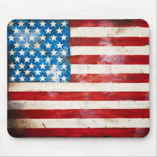 Weathered American Flag Mousepad