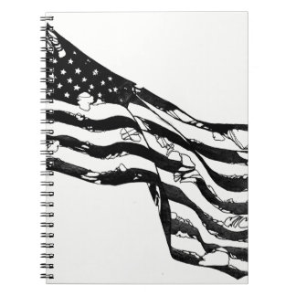 Weathered American Flag Notebook