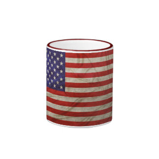 Weathered American Flag Ringer Mug