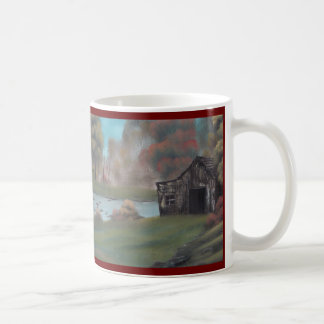 Weathered Barn by Pond Two Sided Mug