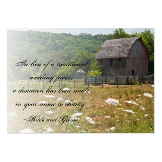 Weathered Barn Country Wedding Charity Favor Pack Of Chubby Business Cards
