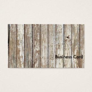 Weathered Barn Wood Business Card
