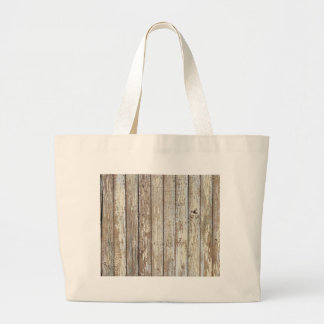 Weathered Barn Wood Large Tote Bag