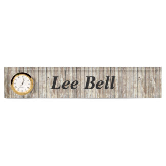 Weathered Barn Wood Name Plate
