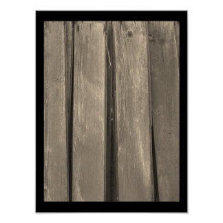 Weathered Barn Wood Poster