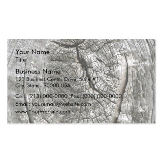 Weathered barn wood with knot business cards