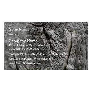 Weathered barn wood with knot business card templates