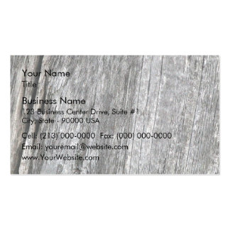 Weathered barn wood with nail business card