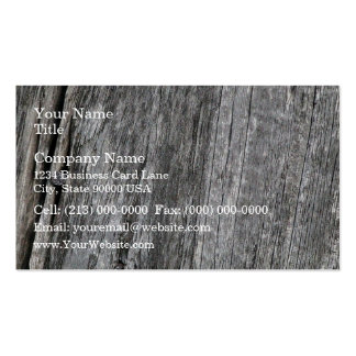 Weathered barn wood with nail business cards