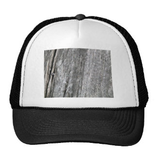 Weathered barn wood with nail mesh hat