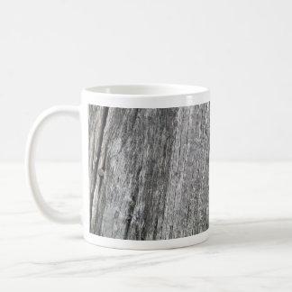Weathered barn wood with nail coffee mug