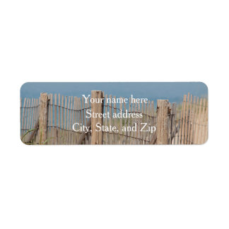 Weathered Beach Fence Return Address Label