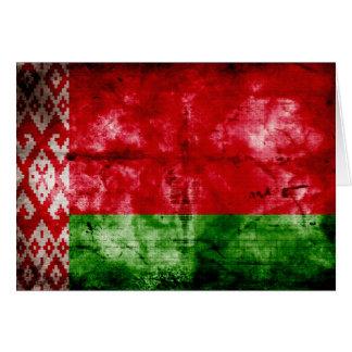 Weathered Belarus Flag Note Card