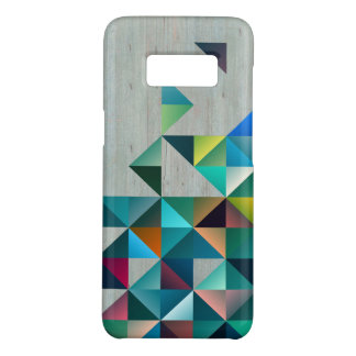 Weathered Blond Wood WithColorful Triangles Case-Mate Samsung Galaxy S8 Case