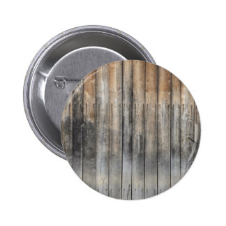 Weathered boards from wood 6 cm round badge
