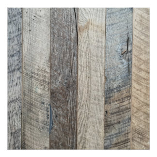 Weathered Boards Wood Plank Background Texture Poster