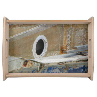WEATHERED BOAT 3 Small Serving Tray