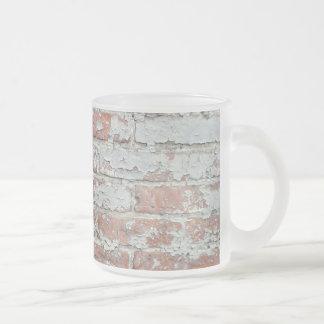 Weathered Brick Wall Frosted Glass Mug