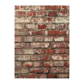 Weathered Brick Wall Pattern Wood Prints