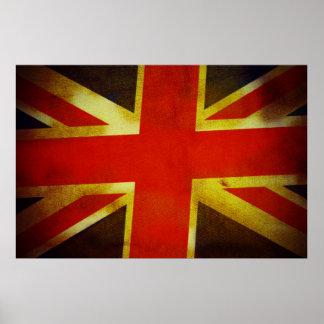 Weathered British Flag Print