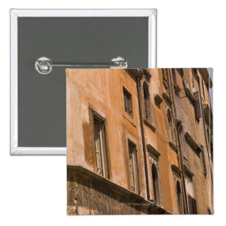 Weathered buildings, Rome, Italy 3 15 Cm Square Badge
