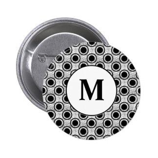 Weathered bullseye 6 cm round badge