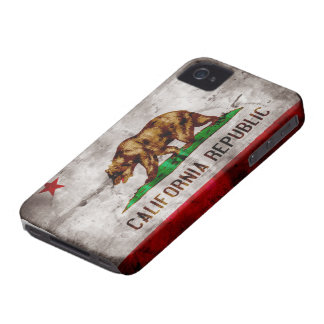 Weathered California Flag iPhone 4 Case